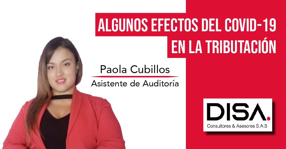 ALGUNOS EFECTOS DEL COVID-19 EN LA TRIBUTACIÓN